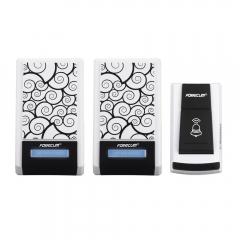 waterproof wireless doorbell 36 songs bell 100 meters range Two receiver DC with doorbell