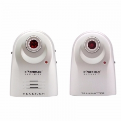 Security Entry Defender With Chime Home Alert Infrared Motion Detection Sensor IR Doorbell white one size