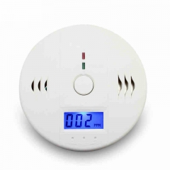 Home Safety CO Carbon Monoxide Poisoning Smoke Gas Sensor Warning Alarm Detector Kitchen white one size