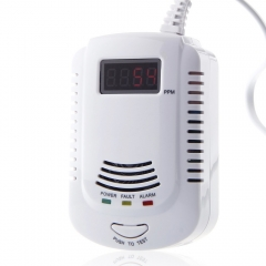 Home Kitchen Security Combustible Gas Detector LPG LNG Coal Natural Gas Leak Alarm Sensor white one size