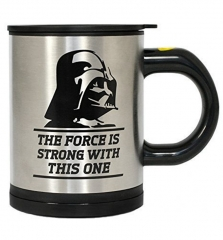 Electric Stir Coffee Cups Cartoon Creative Office Lazy Mugs Star Wars Black Knight Bottle as the picture One size