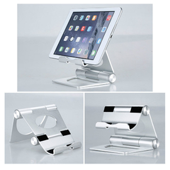 Universal Common Rotatable Foldable Portable Adjustable Elegant Aluminum Holder Stand Mount Silver One Size