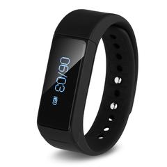 Excelvan OLED Smart Bracelet IP65 Waterproof Bluetooth 4.0 Pedometer Black