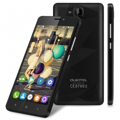 "OUKITEL C3, 5.0"" Inch, Android 6.0, Quad Core, 8G ROM Smartphone Black"