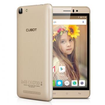 "CUBOT RAINBOW: 5.0"", Android 6.0, Quad Core, 2 MP/ 8 MP, 1GB RAM/16GB ROM, 2200mAh Gold"