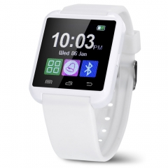 U8 Smartwatch with Bluetooth Answer and Dial the Phone Passometer Burglar Alarm Funcitons white one size
