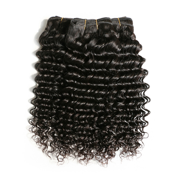 AOOTUS 100% Human Hair Brazilian Deep Wave Virgin Human Hair 1pcs/100g black 16