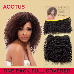 AOOTUS Synthetic Hair Extensions Regina, 10 Inch Deepbrown no 2