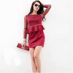 (Buy 1 get 2 GIFTS)  Trendy High Quality Dress red M