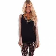 Long Crochet Lace Cardigans Jacket pink fit size