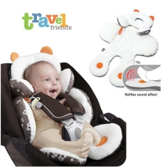 Newborn Baby Car Seat Stroller Cushion Pad Liner Mat Head Body Support Pillow white universal