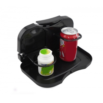 Car Back Seat Folding Food Bottle Cup Drink Tray Mount Holder Table Stand Storage Organizer Black black one size