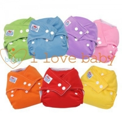 6 x Baby Reusable Cloth Pocket Diaper Nappy + 6 Inserts Colorful one size