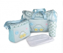 Car Button Baby Diaper Nappy Changing Bags 4Pcs 2 Colors blue one size