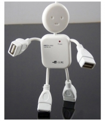 Human Man Shape USB 2.0 Hub 4 Port Expansion For PC Laptop Macbook Notebook white one size