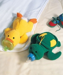 Lovely Cartoon Soft Turtle Duck Baby Feeding Bottle Protector Warmer Cover Bag Holder Duck one size