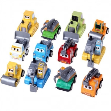 12 Pcs Cute Plastic Toy Car Pull Them back And Watch Them Go colorful one size