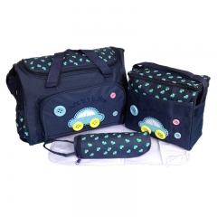 Dark Blue Car Baby Diaper Nappy Changing Bags 4Pcs blue one size