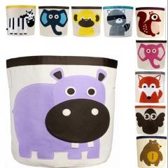 Baby Child Nursery Bedroom Laundry Tidy Toy Storage Bag Basket Organizer Hippo 45x45cm