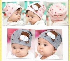 Cute Dog Baby Toddler Child Boy Girl Beanie Hat Cap 2 Colors pink one size