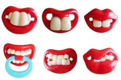 Funny Dummy Pacifier Novelty Teeth Moustache Baby Child Soother 1 Pc color random one size