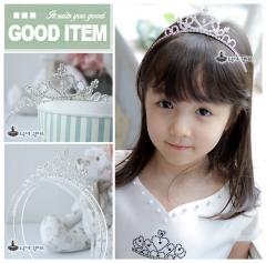 Bridal Princess Wedding Crown Crystal Headband Tiara Hair Band silver