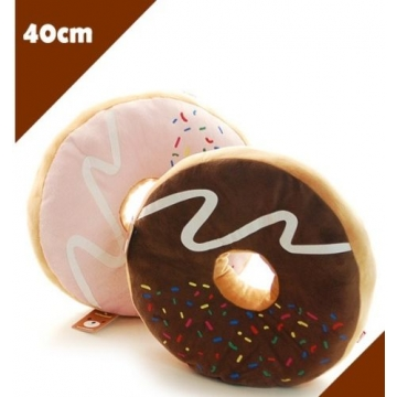 1pc Cute Donut Sofa Cushion Sitting Throw Pillow,pink/brown brown one size