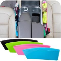 1pc Car Seat Caddy Slit Pocket Catcher Bag,black/green/pink/blue black one size