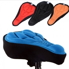 Cycling 3D Pad Bicycle Soft Gel Saddle Seat Cover Cushion black one size