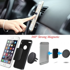 Mini Universal Magnetic Car Air Vent Mount Holder for Smart Phone black one size