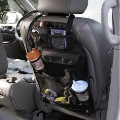 Baby Car Seat Back Storage Pocket Backseat Organizer Bag black universal