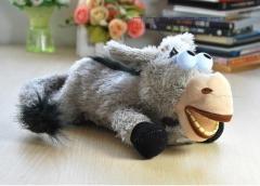 Rolling & Laughing Donkey Plush Animal Electronic Toy grey one size