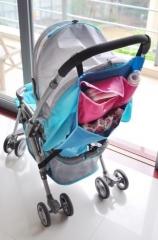 Baby Pram Pushchair Stroller Buggy Handle Bar Organiser Storage Bag light blue universal