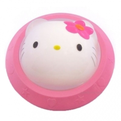 Cute Pink Cat Baby Kids Children Room Nursery Bedside LED Lamp Night Light pink one size