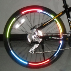 8pcs Reflective Bike Wheel Rim Stickers Safety Bicycle Cycling Fluorescent Tape yellow