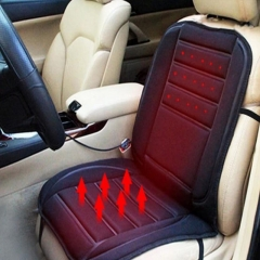 Black Universal Electric Winter Car Heated Seat Cover Pad Heating Cushion 12V DC