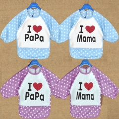 I Love Mama Papa Random Infant Baby Dribble Feeding Teething Bib 1pc pink one size