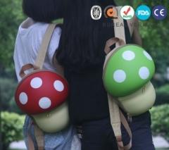 Baby Kids Children Cute Mushroom Cartoon School Lunch Bag Backpack Shoulder Tote red one size