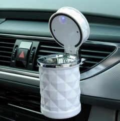 Details about  Portable Car Office Home LED Diamond Ashtray Travel Cigarette Smoke Holder White