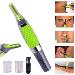 All In One Nose Ear Neck Nasal Eyebow Sideburns Hair Trimmer Clipper Remover green