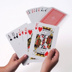 """Giant Extra Large Big Cards 5"""" X 7"""" Games Playing Jumbo Deck Huge Easy See Poker red one size"""
