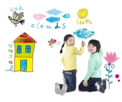 Peel & Stick Office Children Room Drawing Notice Whiteboard Wall Sticker white one size