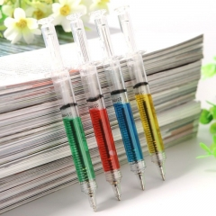 4pcs Injection Syringe Shape Ball Point Pen School Nurses