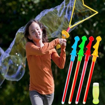 1pc Outdoor Game Baby Kids Children Play Toy Bubble Sword Wand Color Random blue one size