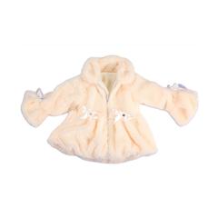 M/Easy PLUSH BABY COAT WITH ZIPPER,