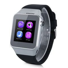 Bluetooth Smart Watch with Camera SIM for Android IOS Sliver