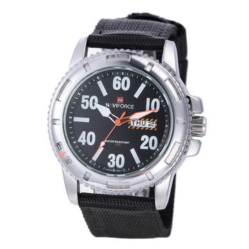 Men Round Dial Waterproof Watch Gray