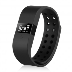 Waterproof Touch Screen Bluetooth Smart Bracelet Wristband for Android Black