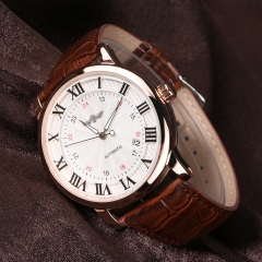 Business Leather Men Skeleton Automatic Mechanical Waterproof Watch 6
