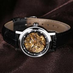 Women Automatic Mechanical Leather Band Wristwatch 5